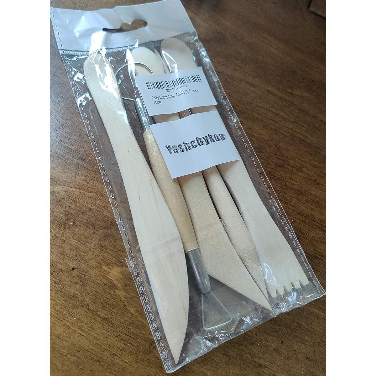 Polymer Clay Sculpting Tools Set - 5 Pcs Pottery Tool Kit - Ceramic Pottery (5 Pack)
