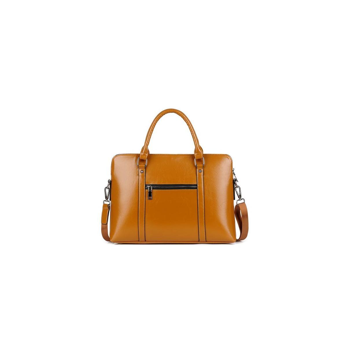 "16.5"" leather convertible large tote Laptop messenger satchel briefcase work shoulder crossbody computer bag/purse"