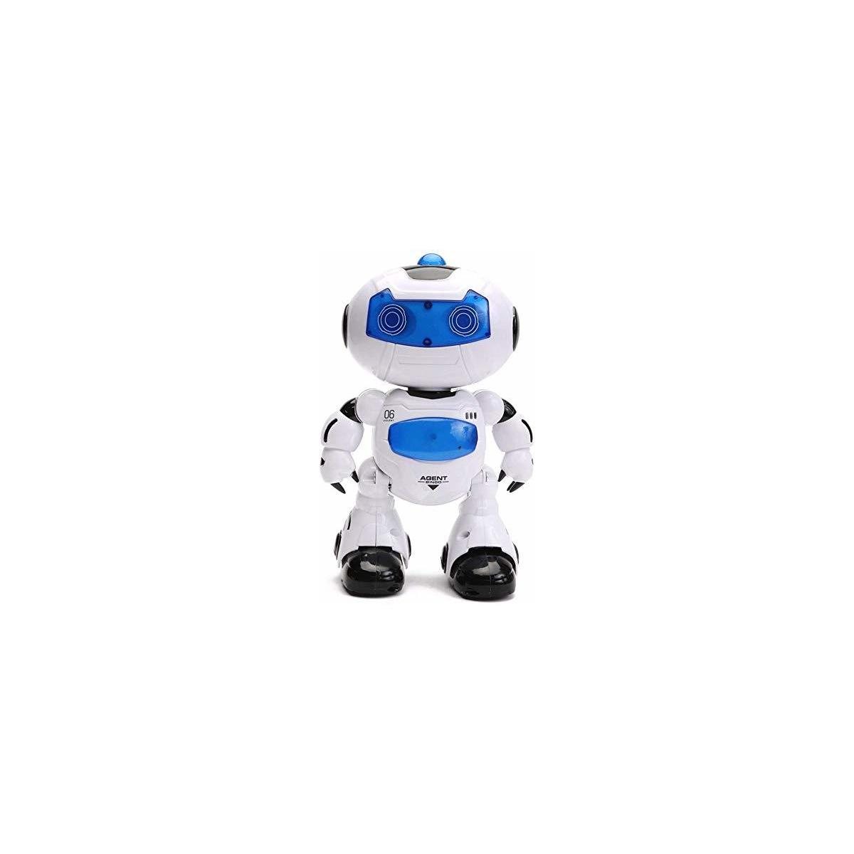 HANMUN RC Robot for Kids - Electronic Learning Toys Toddler Dancing Singing Remote Control Robot Led Eyes with Music Lights
