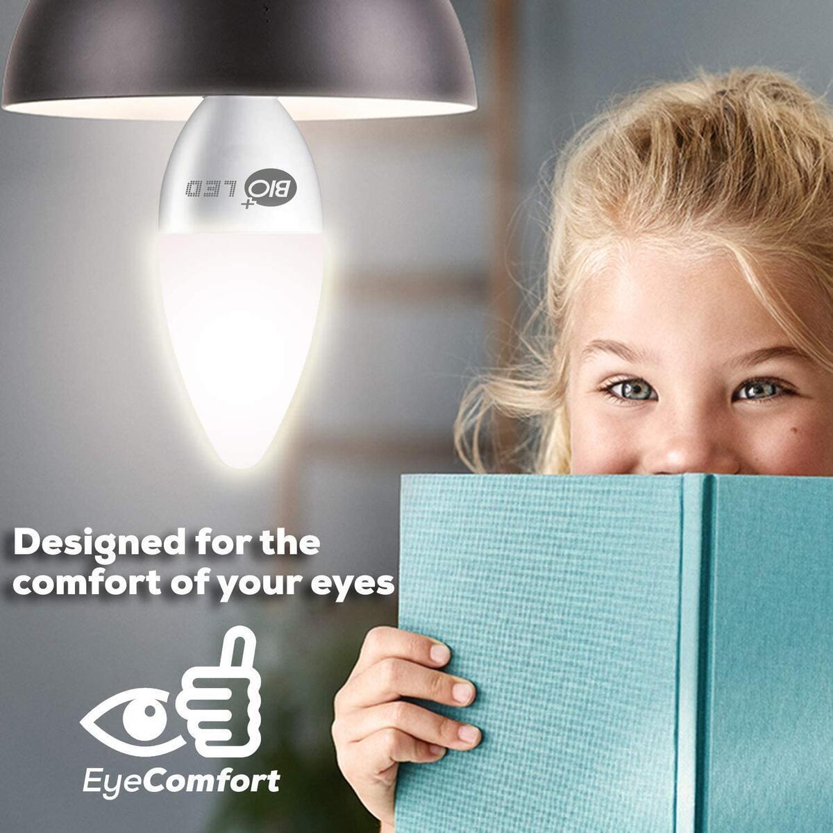 Bioled 6 Pack E12 120V 5W (60Watt Equivalent) Daylight 5000K LED Light Bulbs, Ceiling Fan Light Bulbs, Small Base Lightbulbs, Chandelier Light Bulbs, Candelabra LED Bulbs, Type B11 Bulb, Candle Bulb