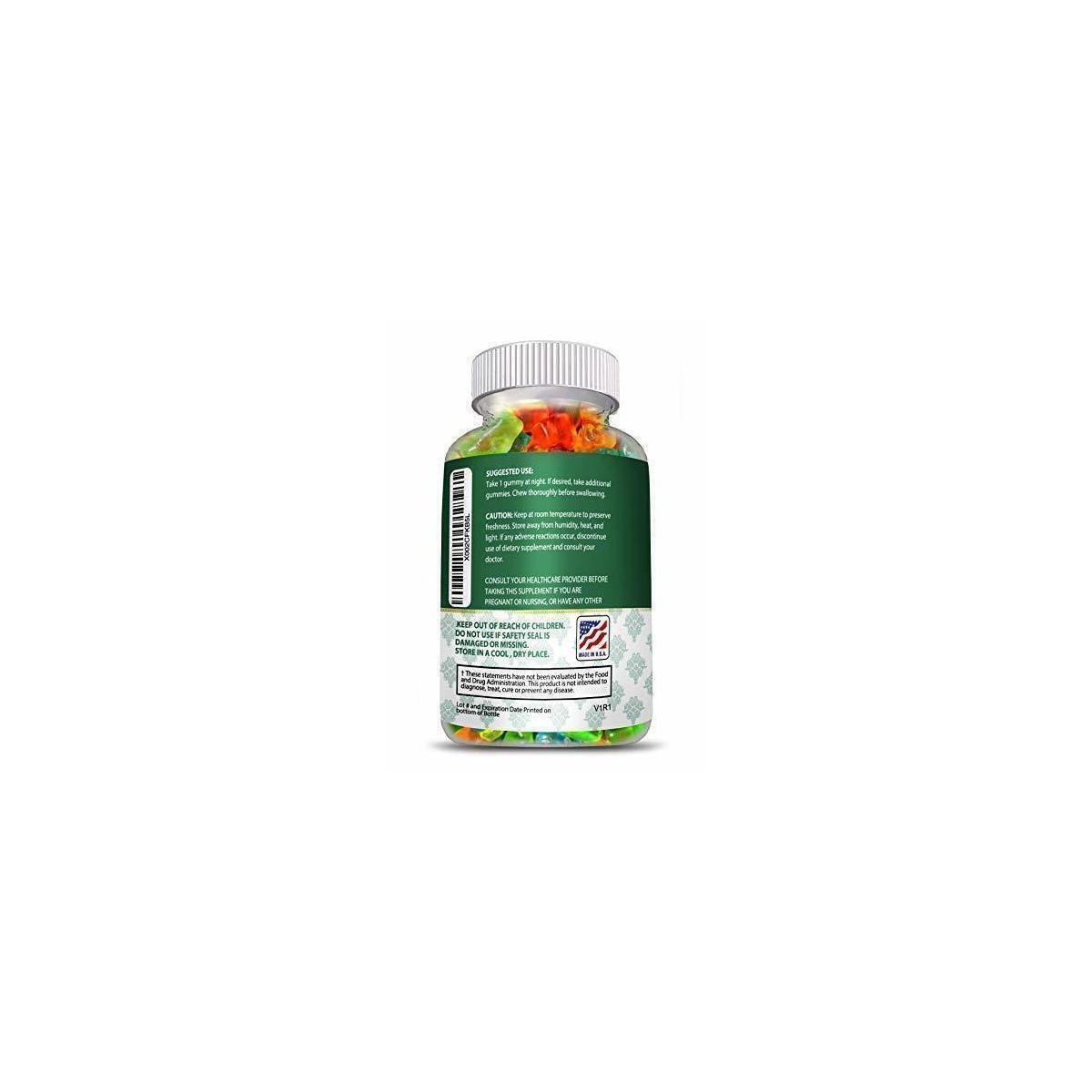 Hemp Melatonin Gummies-Sleep, Anxiety and Stress Relief 5mg Melatonin+25mg Hemp 750mg of 100% Pure Organic Hemp Extract in Every Gummy. #1 Natural Sleep Aid to Promote restful Sleep -30 Servings