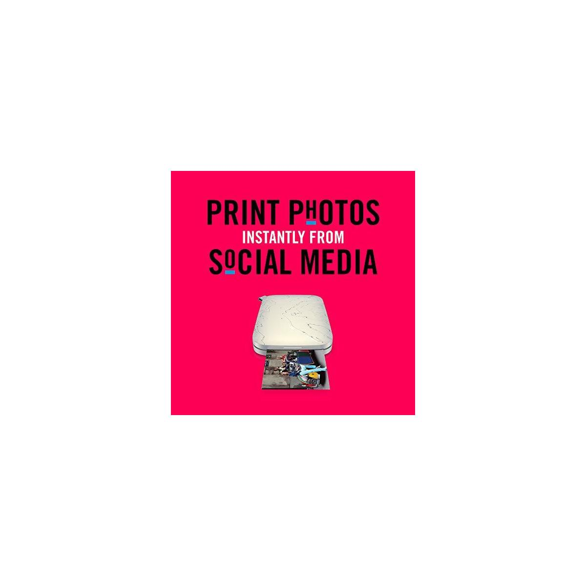 """HP Sprocket Select Portable Photo Printer – Stylize Social Media Photos and Print 30% Larger Pictures on 2.3x3.4"""" Sticky-Backed Paper (5XH49A)"""