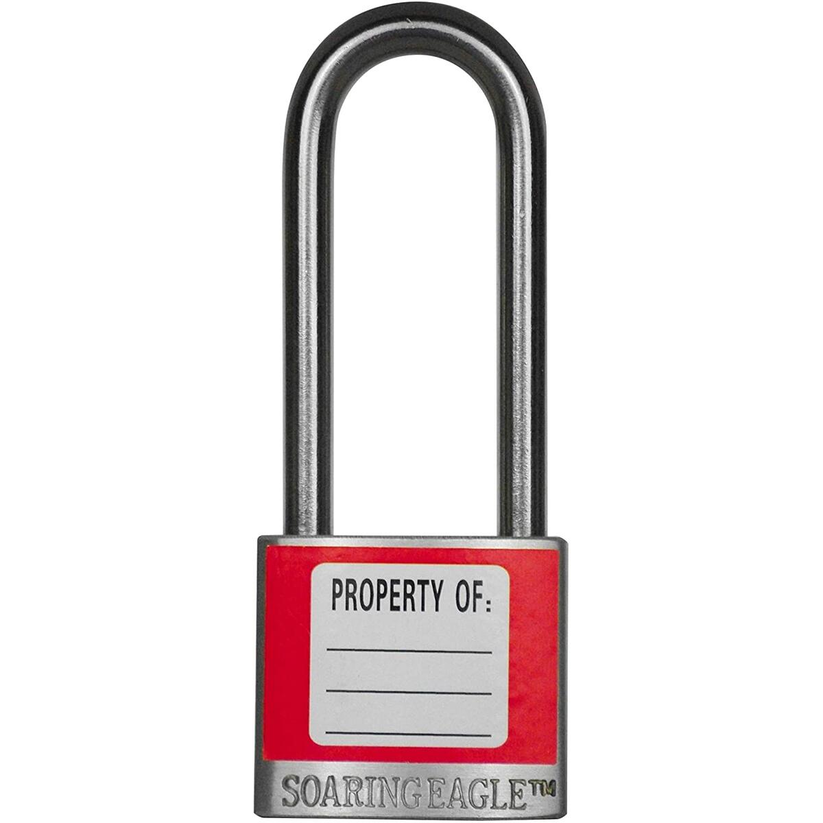Stainless Steel Lockout Tagout Lock - 3 Red - Soaring Eagle Co