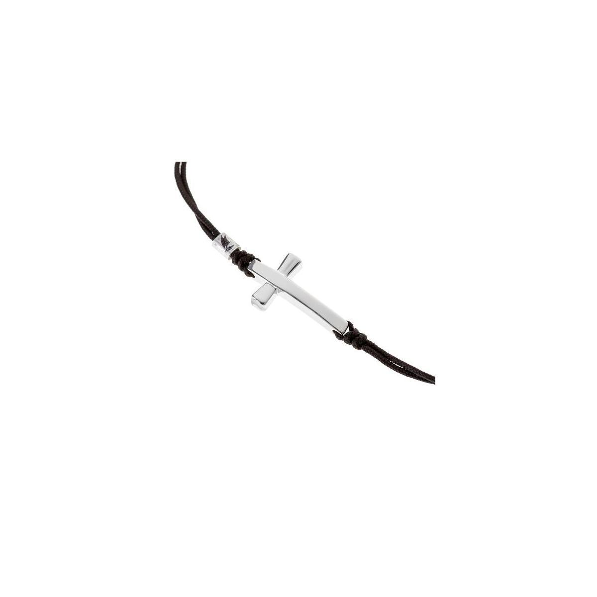 Wind Passion Inspirational String Bracelet with Cross Charm, Adjustable Unisex Pendant Rope Thread Black Bracelets for Women Men