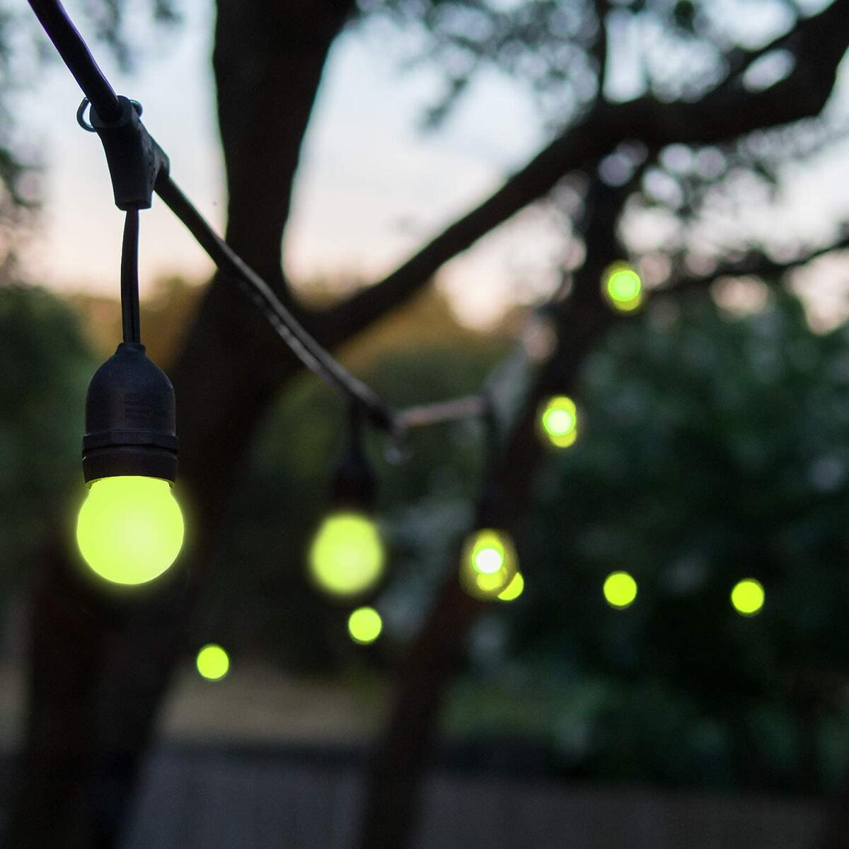 BECCALIGHTING Outdoor Color Changing String Lights with Remote RGB Dimmable Hanging LED Landscape Decoration Lighting Color Changing String Lights Backyard Garden 30ft 30 Feet