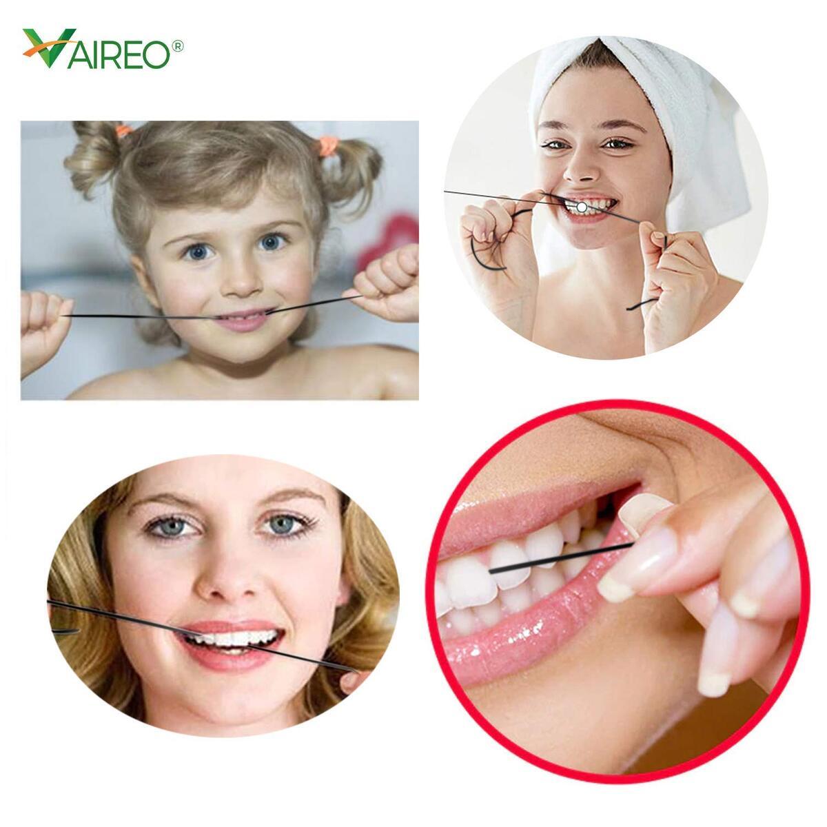 Bamboo Charcoal Silk Fiber Thread Floss - 100% Natural Organic Biodegradable Zero Waste Flossing for Teeth