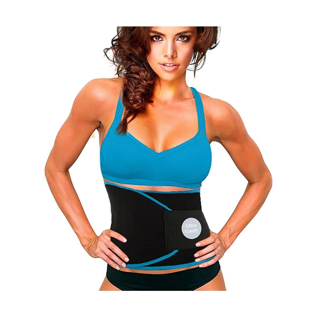 Waist Trimmer  Sweat Belt Fitness AB Belt  Sauna Belt Help Burn Calories  fit up to 57