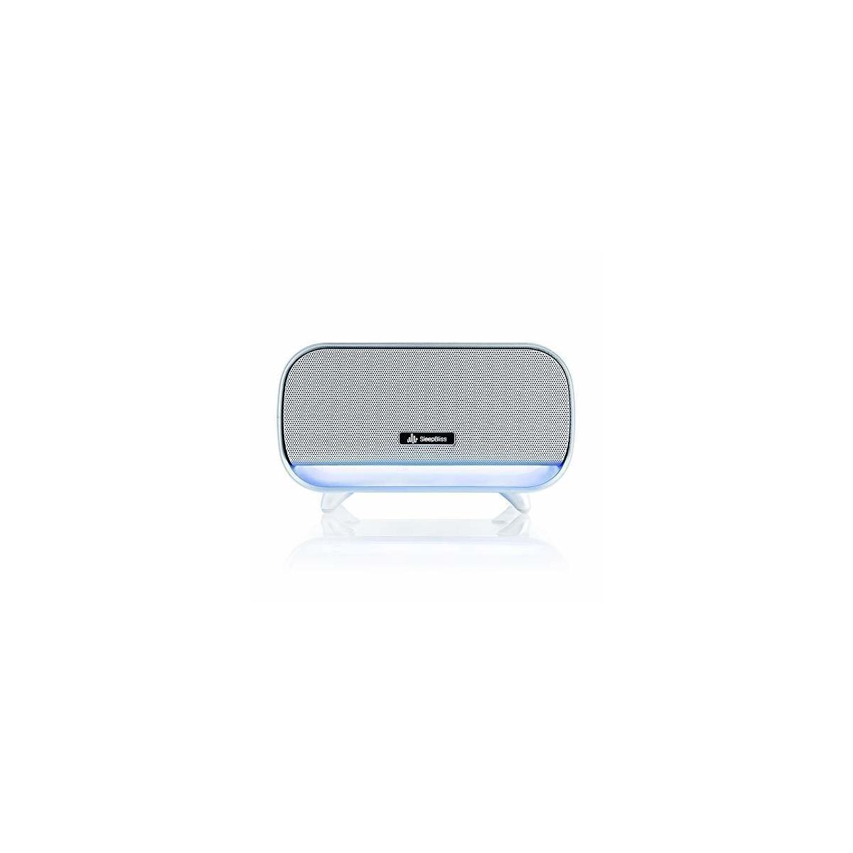 SleepBliss Portable Sleep Sound Machine   Rechargeable Noise Machines For Sleeping   24 HiFi Soothing Sounds   Negative Ion Purifier   2 Night Lights For Baby Auto-Off Timer For Tinnitus Relief Travel