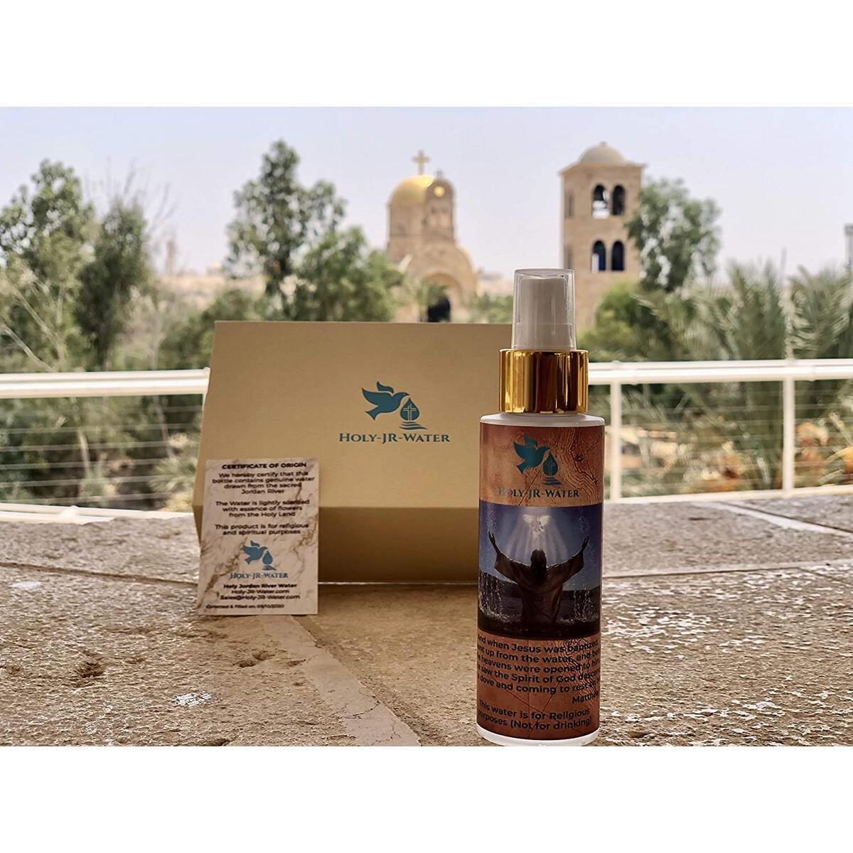 Antique Blessed Holy Water From Jordan River Bottle Packed in Unique Fancy Box For Home with Certificate Card