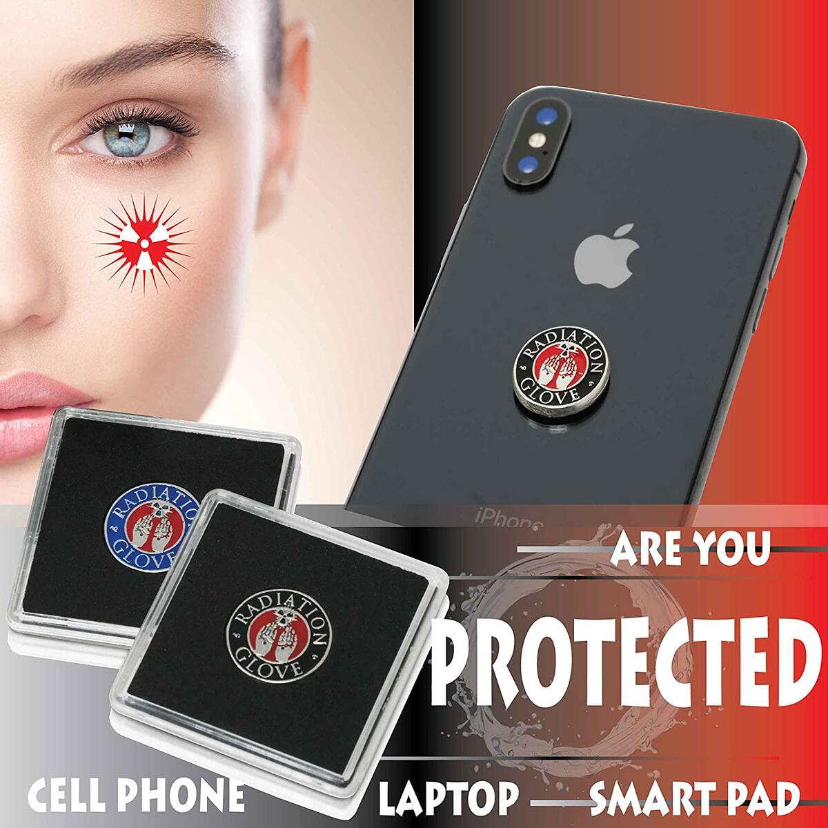 EMF Protection Cell Phone Radiation Protection Device – Radiation Protection for All Electronic Devices - Cell Phone, Laptop, Smartpad - EMF Defender Protection Products EMF Shield for Phone or Case…