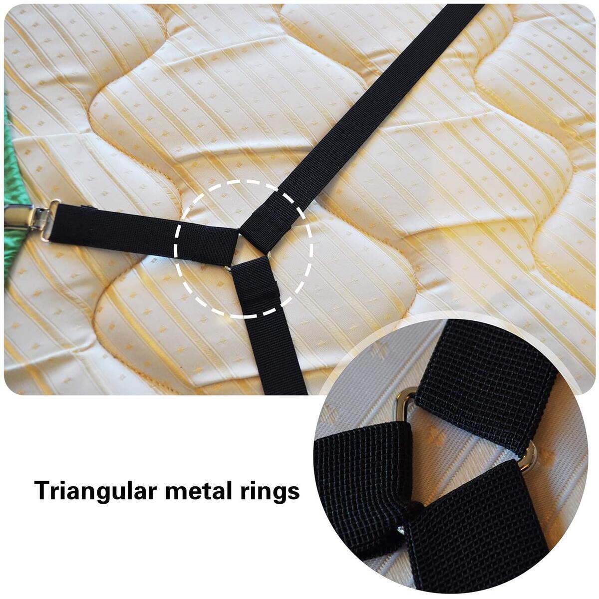 Premium Criss-Cross 2pcs Strap Adjustable Elastic Bed Sheet Fasteners