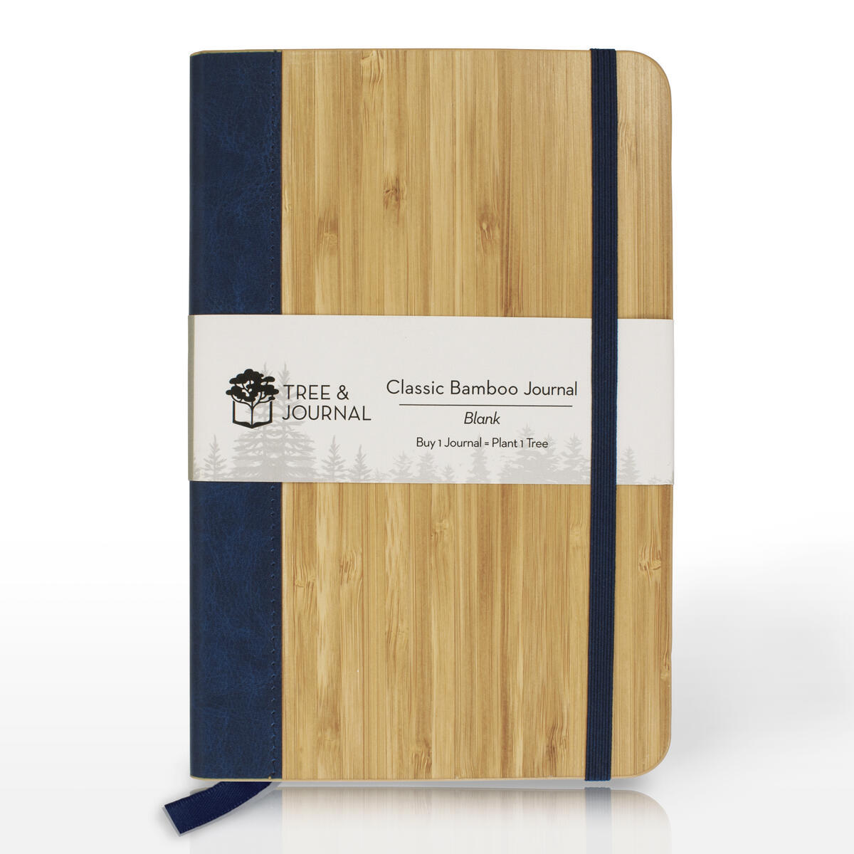 Eco Friendly Journal, Handmade College Ruled Notebook (5x8 in) with Natural Wood Cover & Fountain Pen Friendly Paper. FSC Certified & Zero Waste.