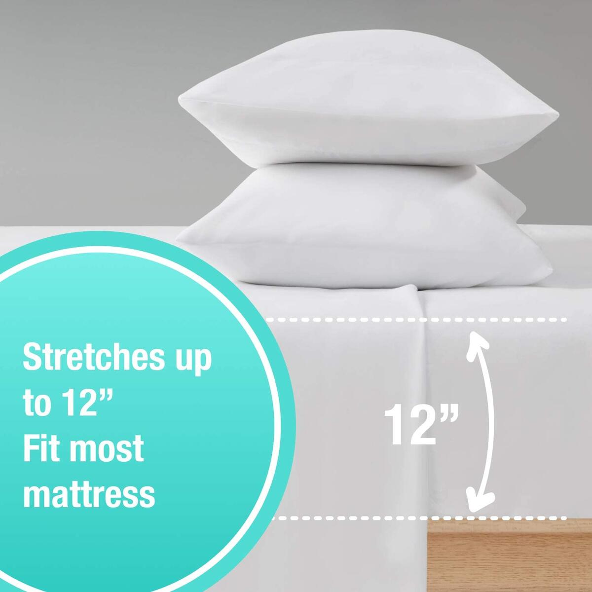 White Sheet Set Full 4 Piece - 1 Flat, 1 Fitted with Deep Pocket Fits Most Mattress, 2 Pillowcases | Soft Brushed 1800 Microfiber Blend Bed Sheet | Wrinkle, Shrinking & Color Fade Resistant