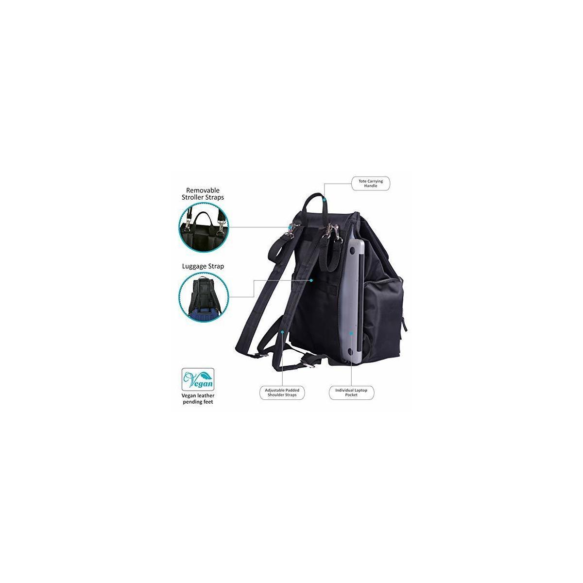 Diaper Bag Backpack Multi-function Travel Back Pack Maternity Nappy Bags for Baby Care,Large Capacity, Waterproof and Stylish with Changing Clutch and Stroller Hooks