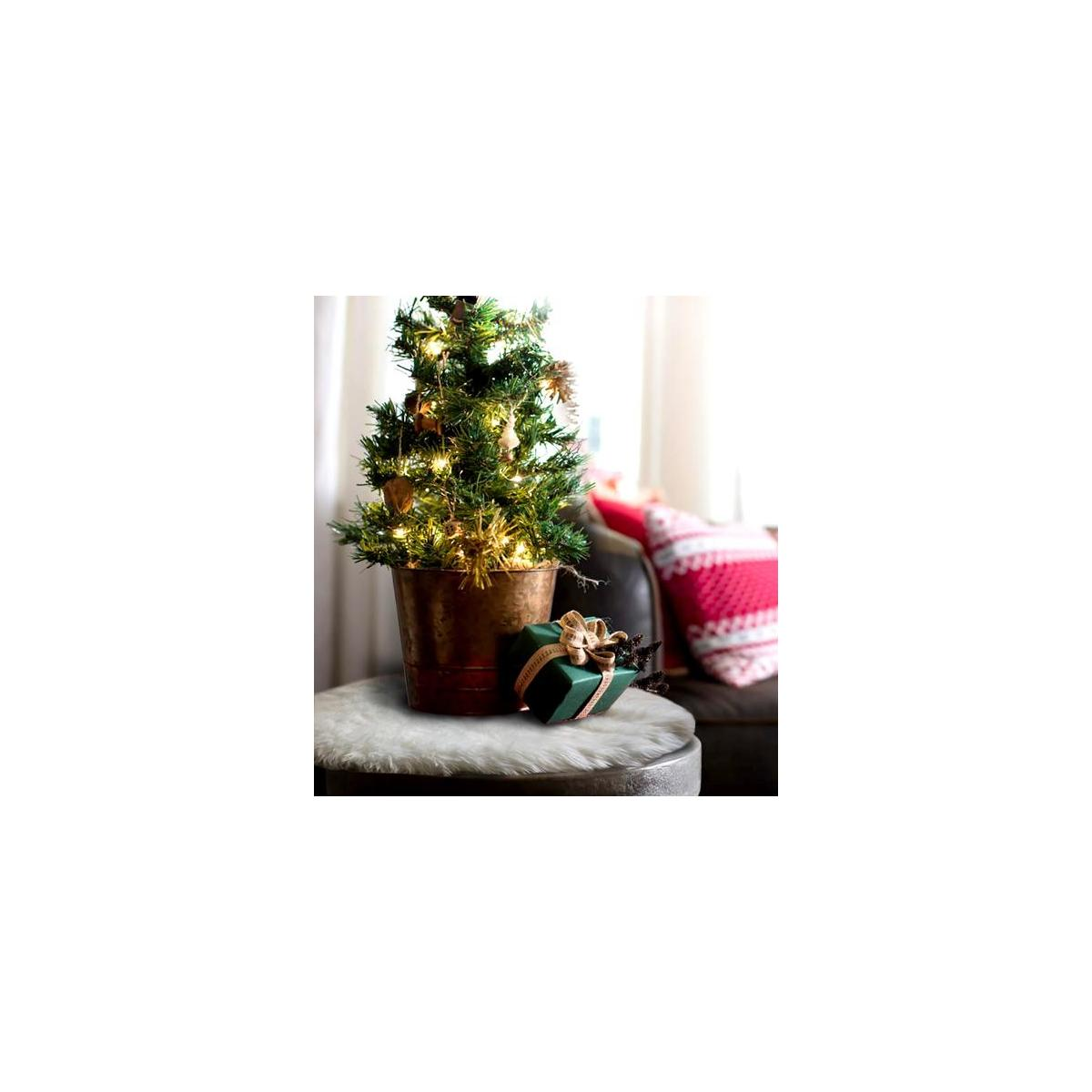 OLYPHAN Mini Tree Skirt Small Christmas Tree Skirt White ...