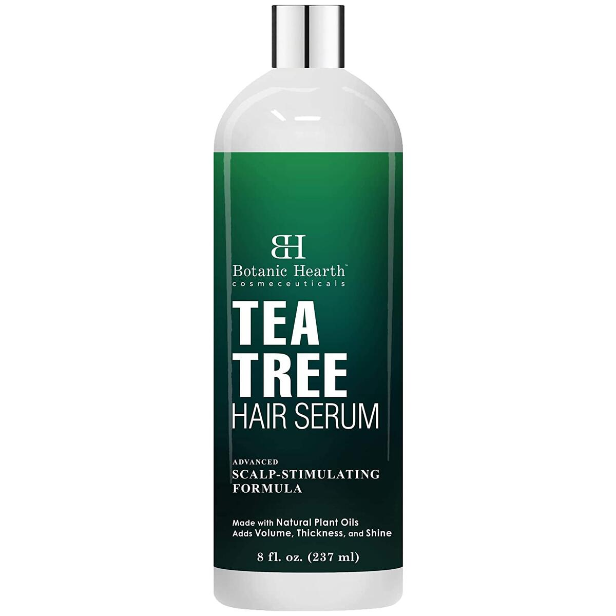 Tea Tree Hair Serum, Hair Growth Stimulating, Made with Natural Plant Oils - Adds Volume, Thickness and Shine - Nourishes & Hydrates Dry & Damaged Hair, for Men and Women - 8 fl oz