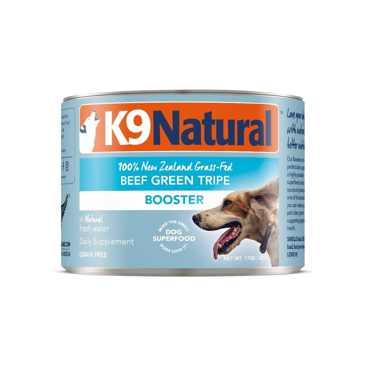 Beef Green Tripe 6oz 24 pack - K9 Natural BPA-Free & Gelatin-Free Canned Dog Food Supplement Booster