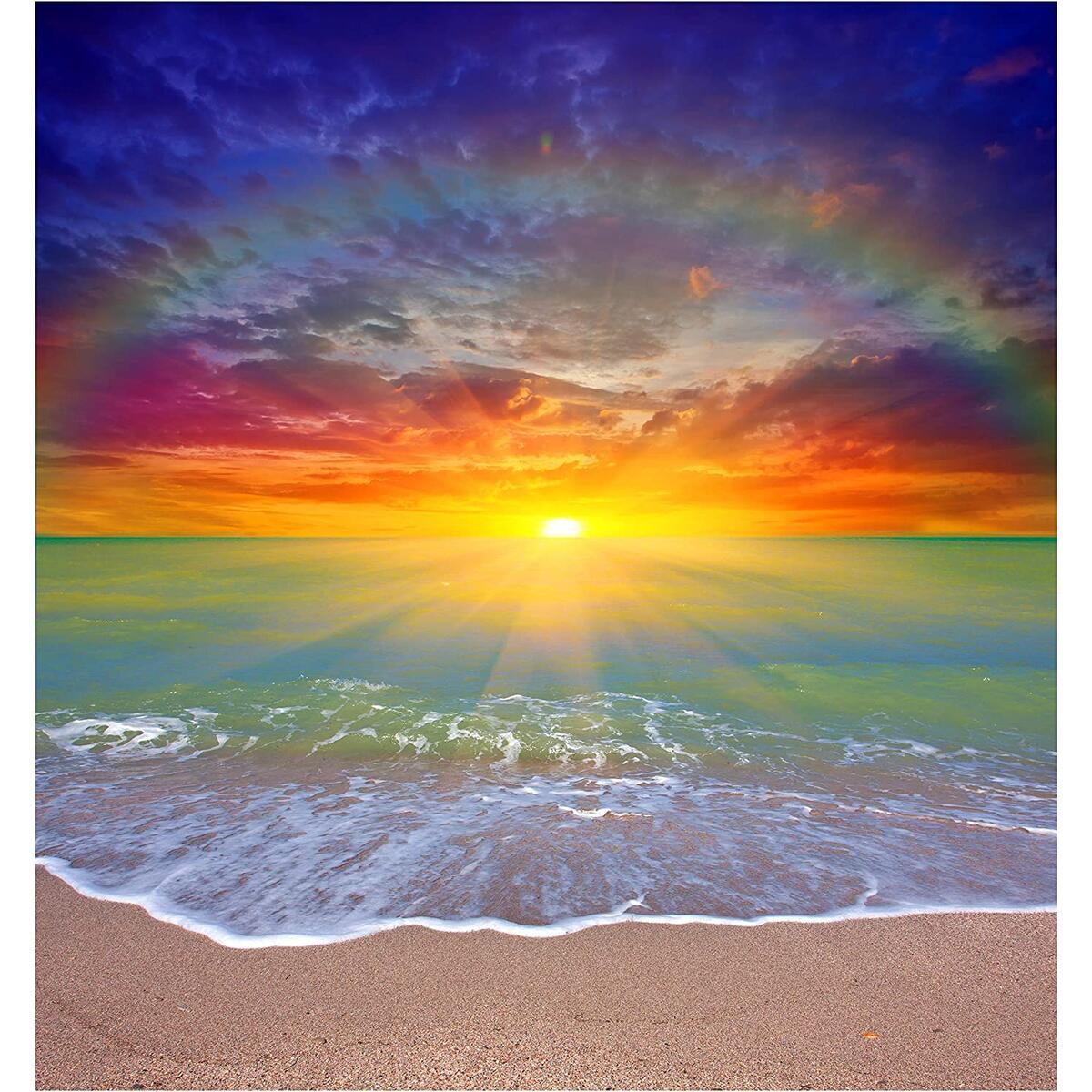 Diamond Painting Beach Rainbow
