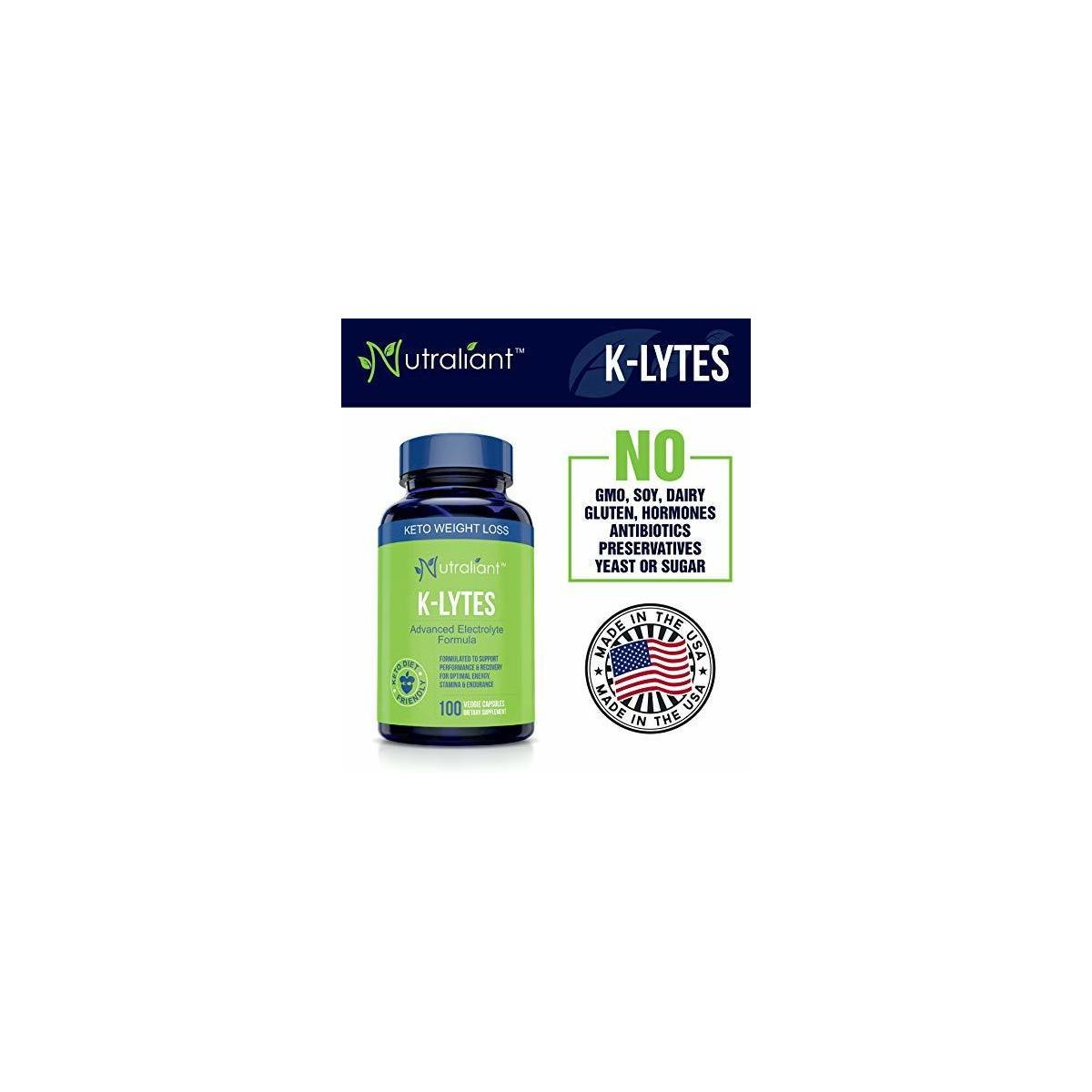 K-LYTES Electrolyte Supplement Rapid Rehydration - Vitamin D, Minerals & BioPerine Pepper For Best Electrolytes Absorption - Stops Cramps, Boosts Energy, Endurance & Recovery - Perfect Keto Diet Pills