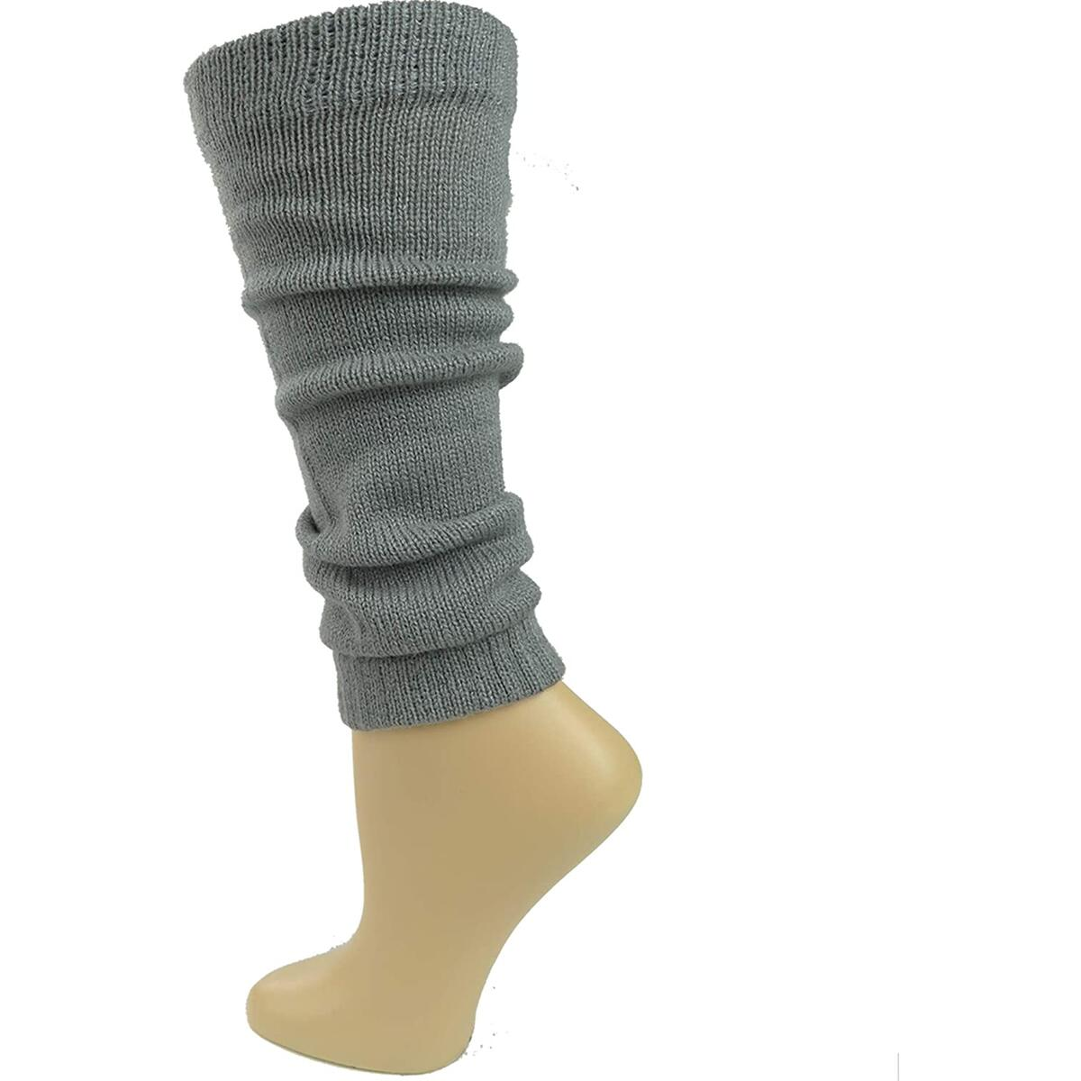 Debra Weitzner Womens Knit Leg Warmers Ribbed Knee High Leg Warmers for Party and Sports 6 Pairs assorted 1