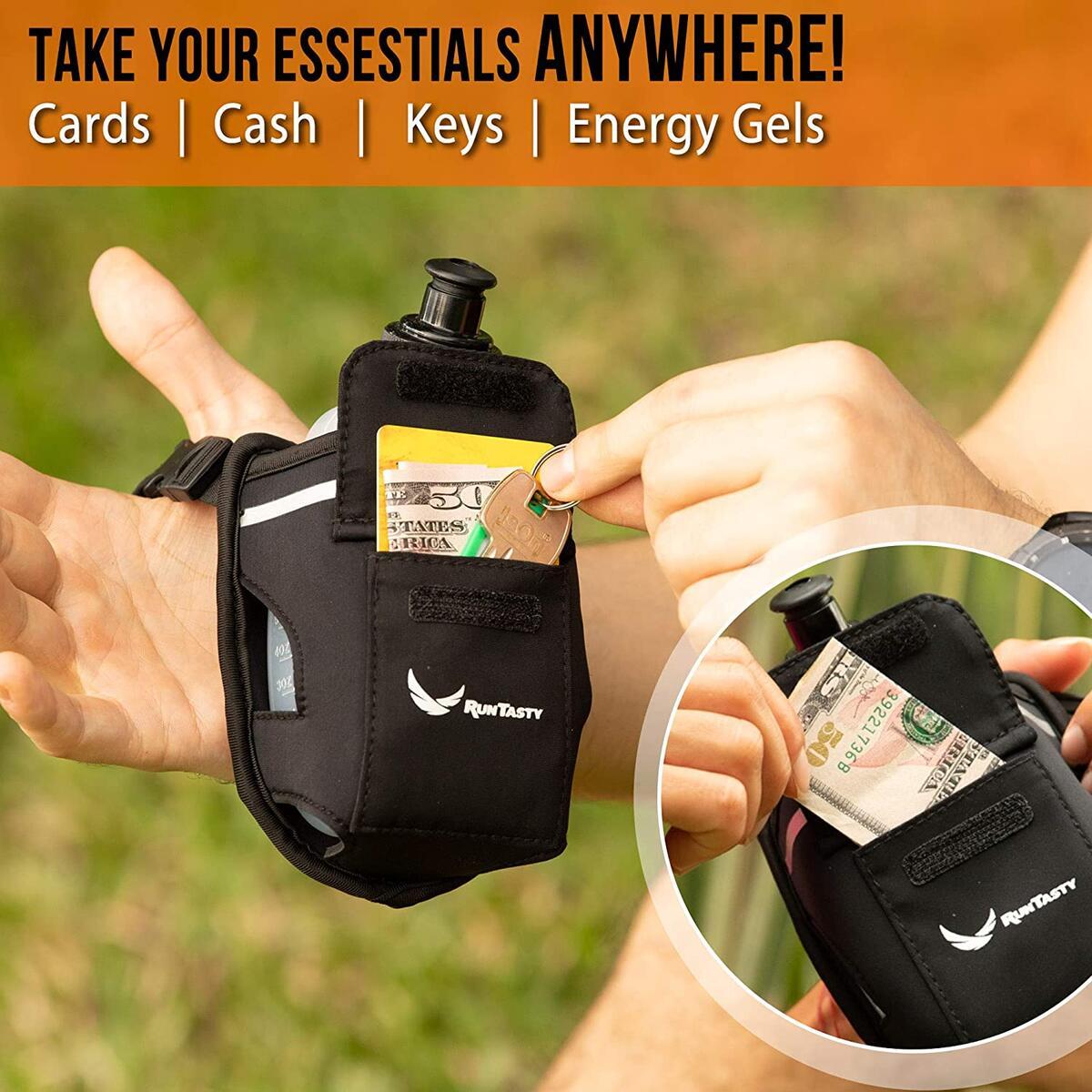 2-in-1 Running Fun: Handheld 12 oz Bottle & Running Belt Add-on by Runtasty