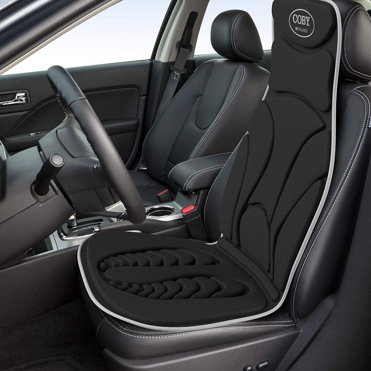 COBY Massaging Car Seat Cushion with Heat