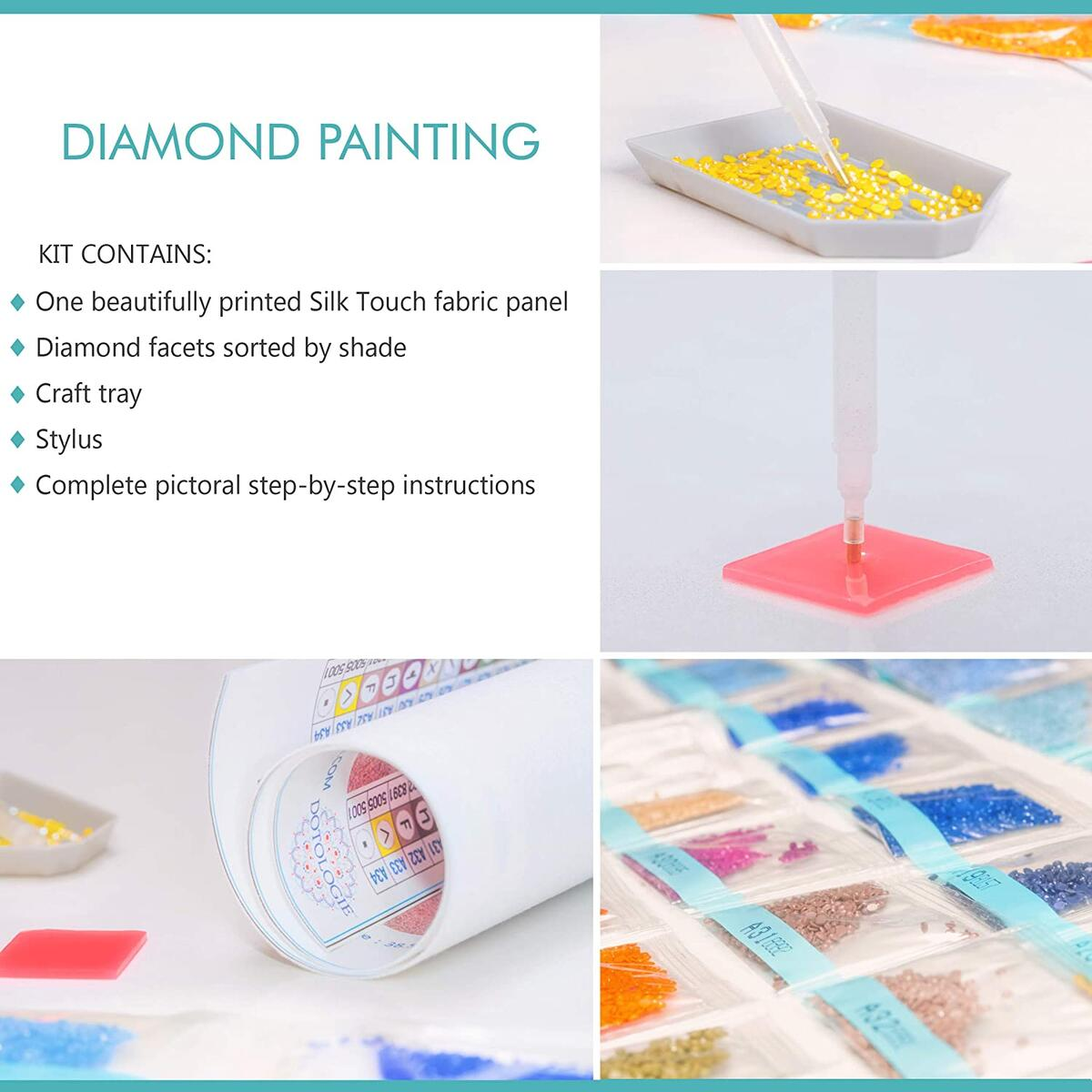 Diamond Painting Beach Family Sunset
