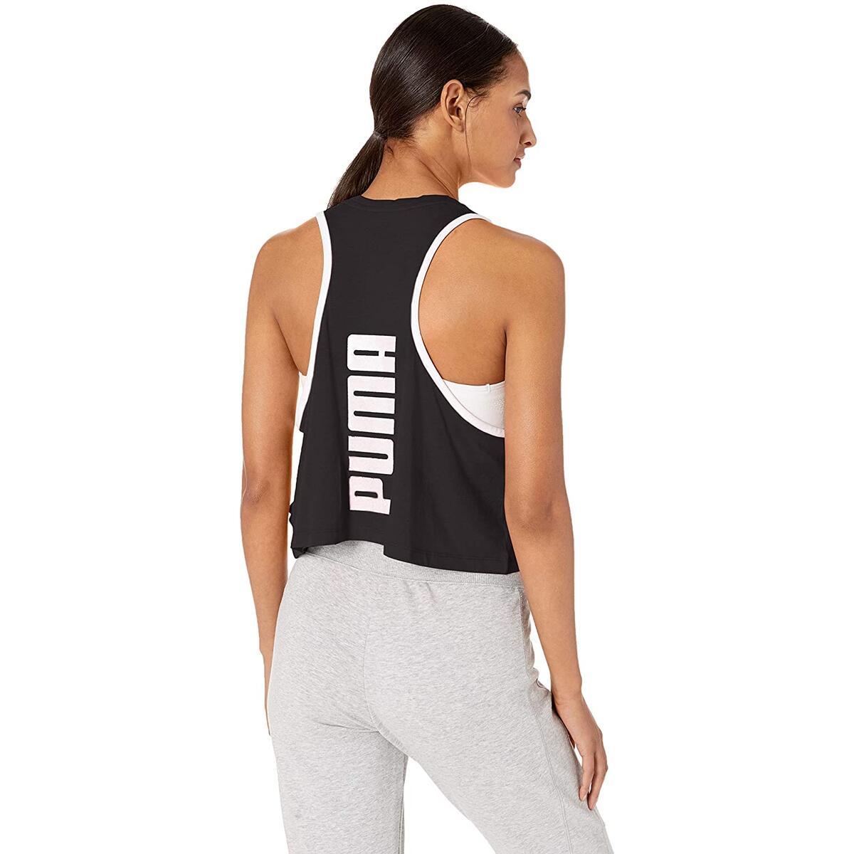 PUMA Women's Summer Tank Top - Black, Large