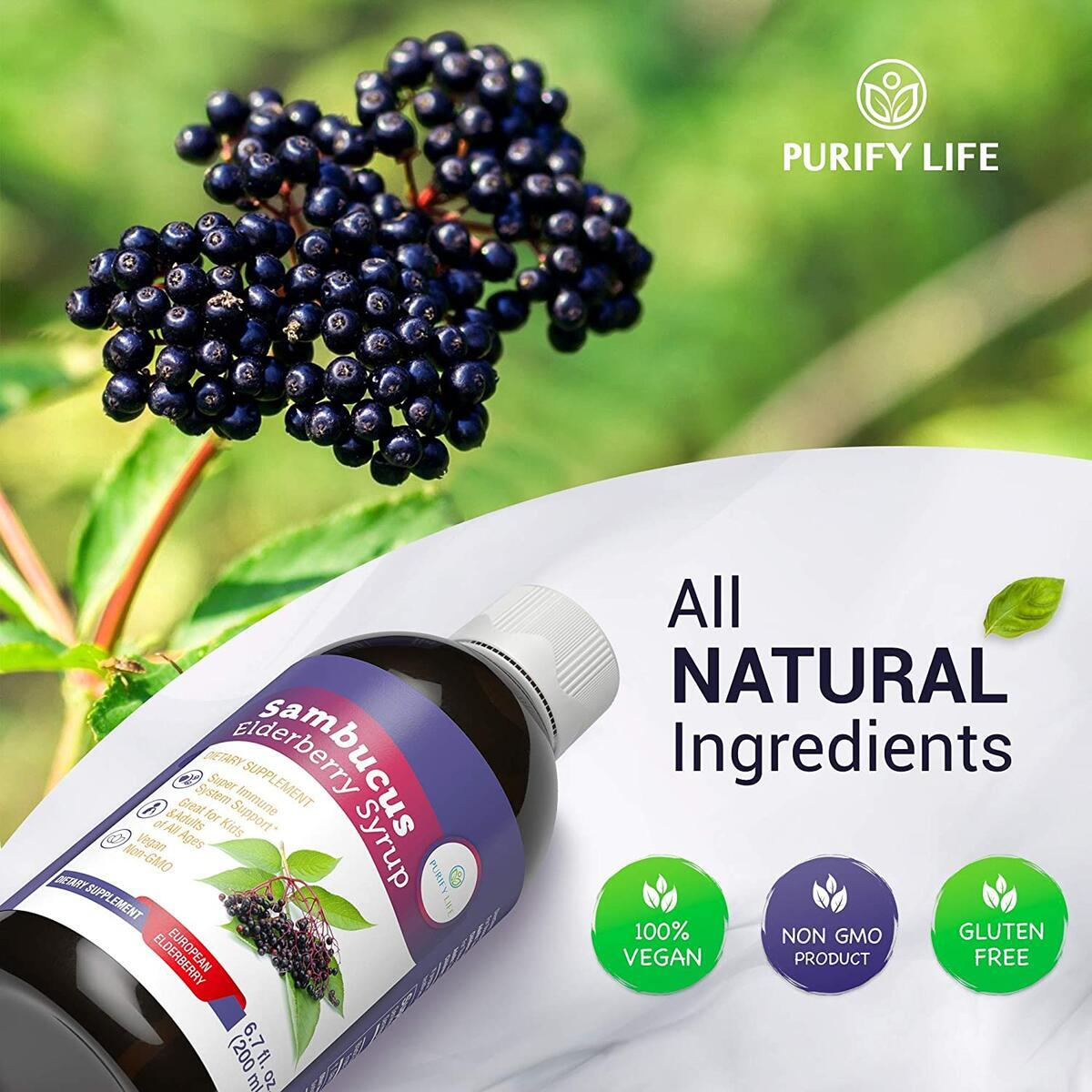 Elderberry Syrup for Kids & Adults - Immune System Support with Organic Sambucus Nigra Liquid Extract for Cold and Allergy - Antioxidant to Replace Capsules, Tablets, Gummies, Pills - (6.7 fl oz)