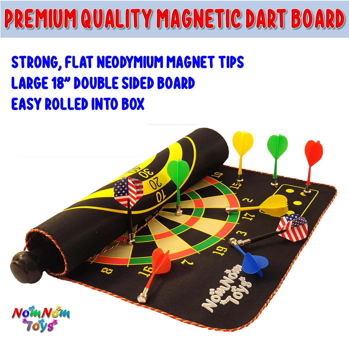 Magnetic Dart Board for Kids, Best Toy Gift for 5-15 Years Old Boys, 15 pcs Magnetic Darts, 18