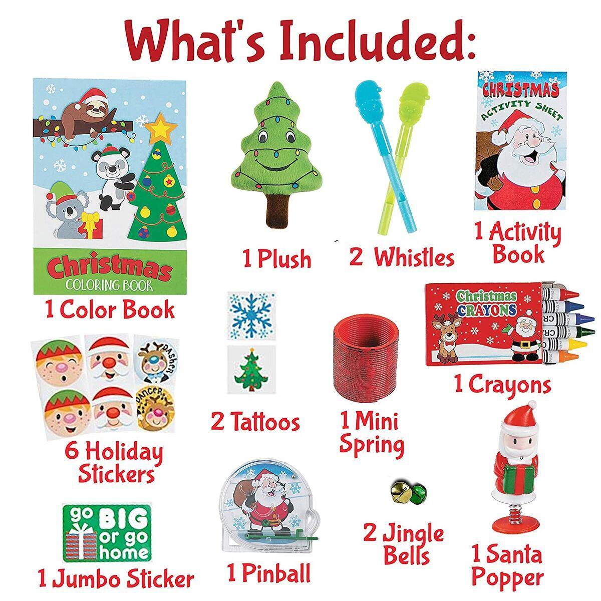 Christmas Candy Stocking Stuffers Box - Holiday Candy Stocking Stuffers For The Naughty And Nice (55 Pieces)