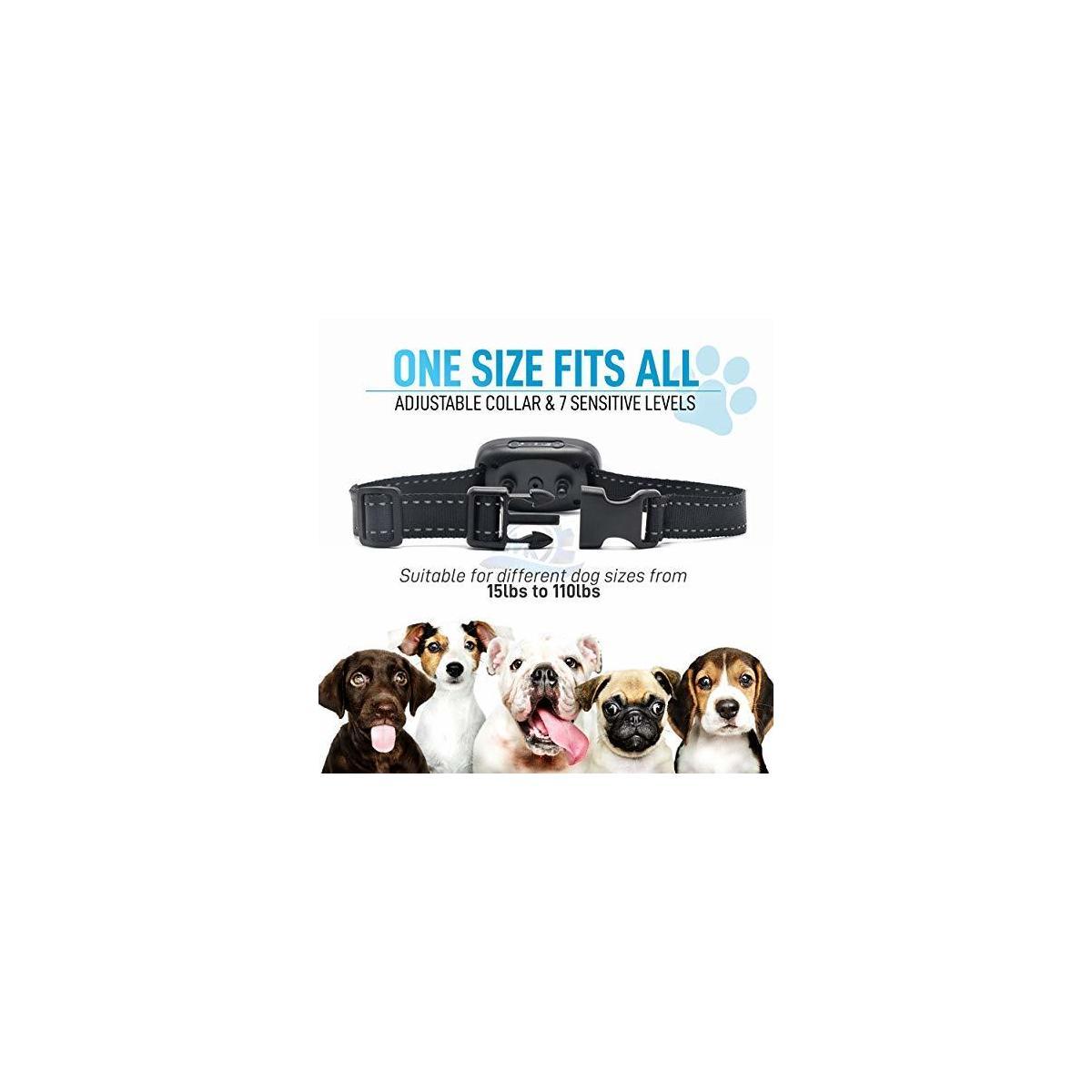 MK Global Bark Collar – Barking Dog Deterrent for Small,Medium,Large Dogs Vibration and Sound Mode - Humane Dog Barking Control Device No Shock Training Collar