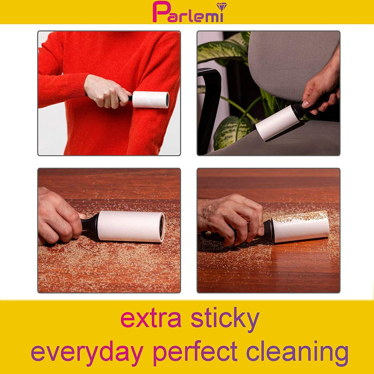 Lint Rollers for Pet Hair Extra Sticky - (2 Handles, 4 Refills - 240 Sheets) - Lint Brush Pet Hair Remover - Cat, Dog Hair Lint Roller - Clothes, Furniture, Carpet, Floor Dust and Fuzz Remover