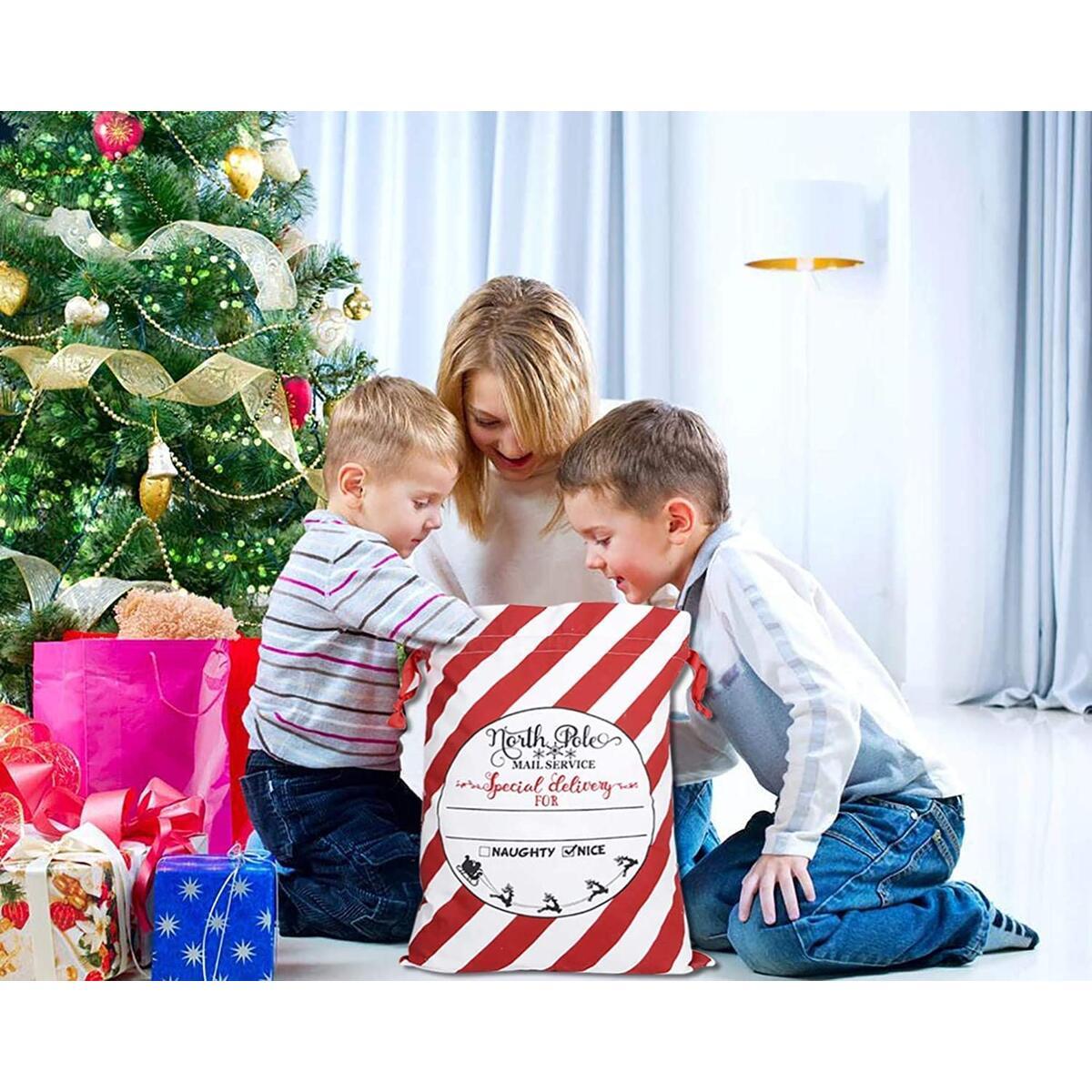 Christmas Decorations Bag Santa Sack Canvas Bag Gifts Kids