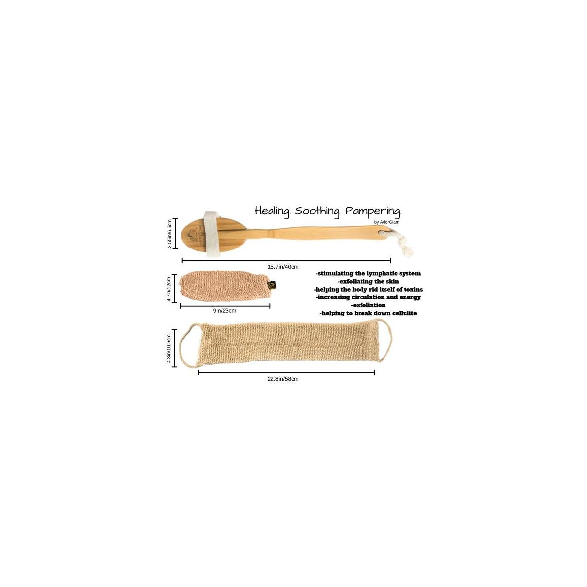 Bamboo Dry Body Brush Set