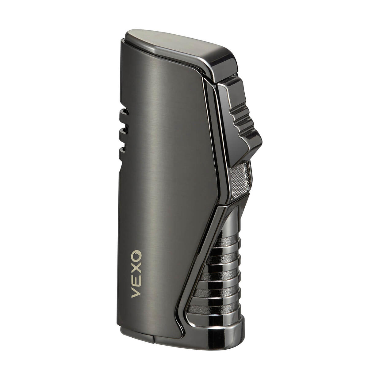Torch Lighter, Cigar Lighter Refillable Butane Lighter Adjustable Flame with Cigar Punch (Butane NOT Included) (Black Nickel)