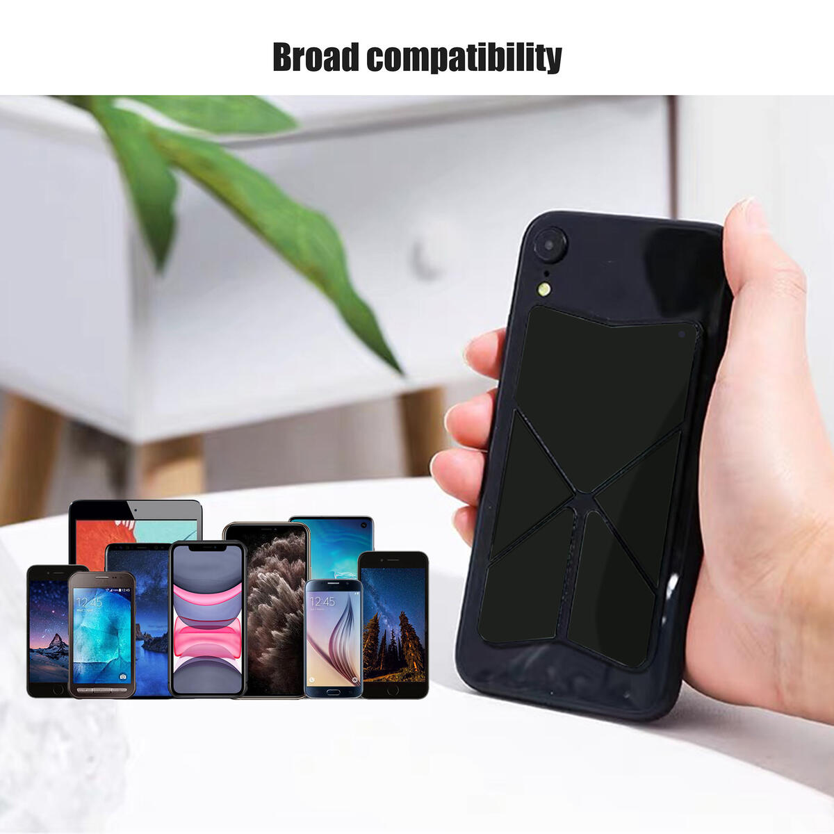 Universal Minimalist Invisible Stand/Holder/Bracket for Phone,Handle/Grip/Strap/Lanyard/Kickstand/Foldable/Magnet/Pocket/Ultrathin/Cell/Smart/iPhone/Android/iPad/Adhesive/Back/Sticker