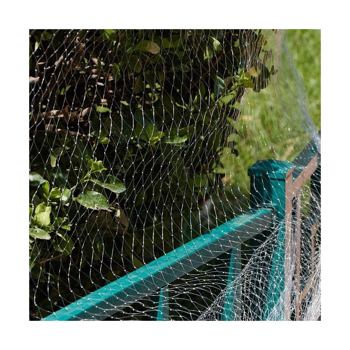 Garden Netting Kit 13Ft x 27Ft White Bird Nettin - Protect Plants Fruits Flowers Trees - Stops Birds Animals