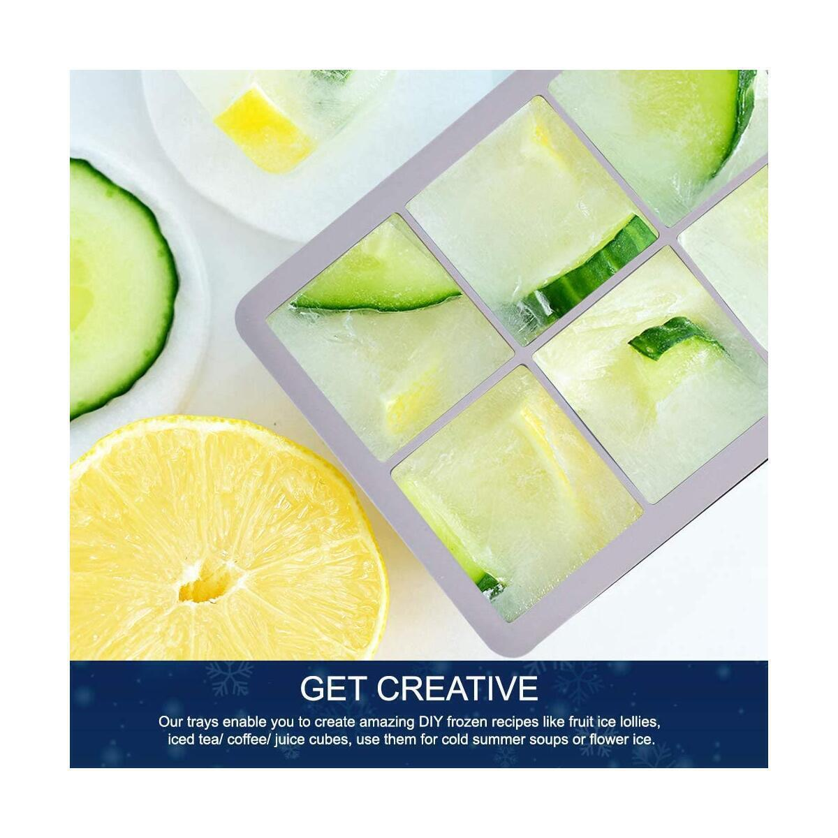 Large Ice Cubes Ice Tray - 8 Cubes - 2 Pack