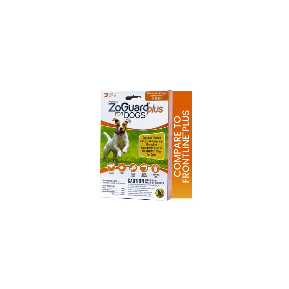 ZoGuard Plus Flea and Tick Prevention for Dogs, Small, 5-22 lbs