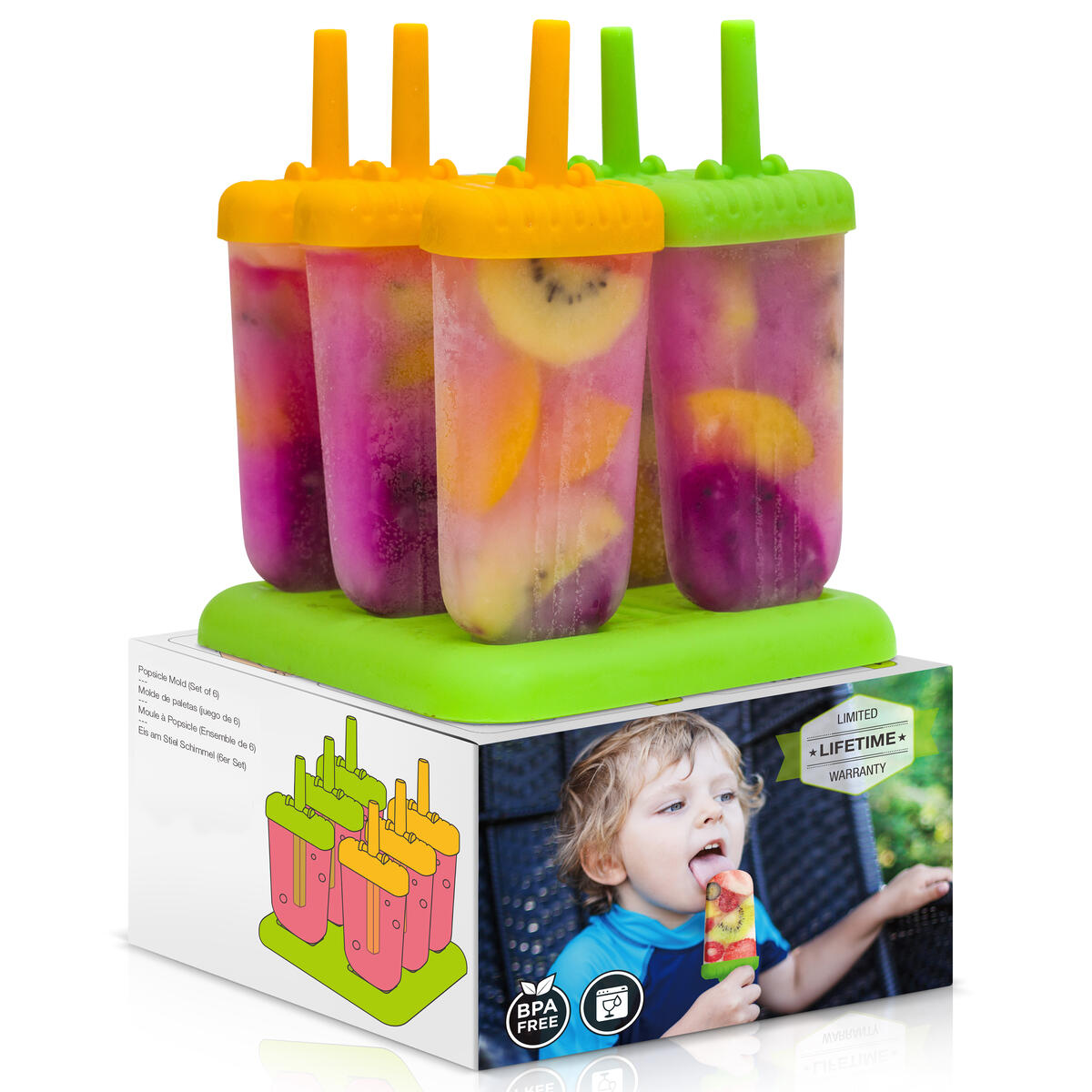 Popsicle Molds - Silicone Homemade Ice Pop Maker - Silicone Kids Ice Cream Mold - BPA Free Popsicles Sticks Tray…