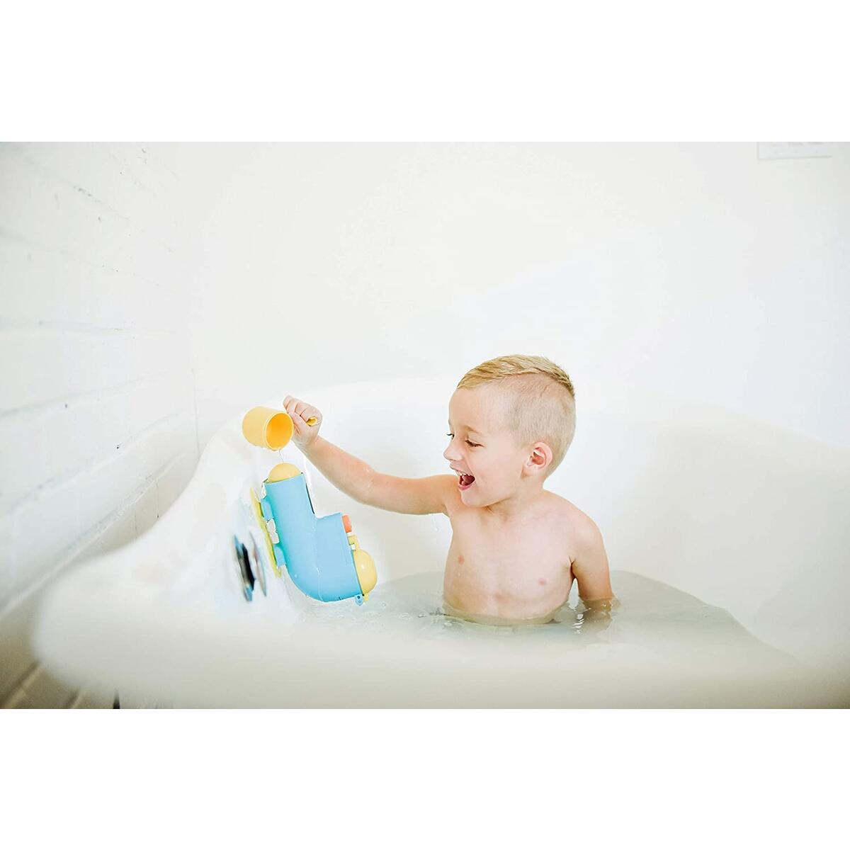 Inspiration Play Fill N' Splash Submarine Bath Toy for Baby, Toddlers, Ages 1-4