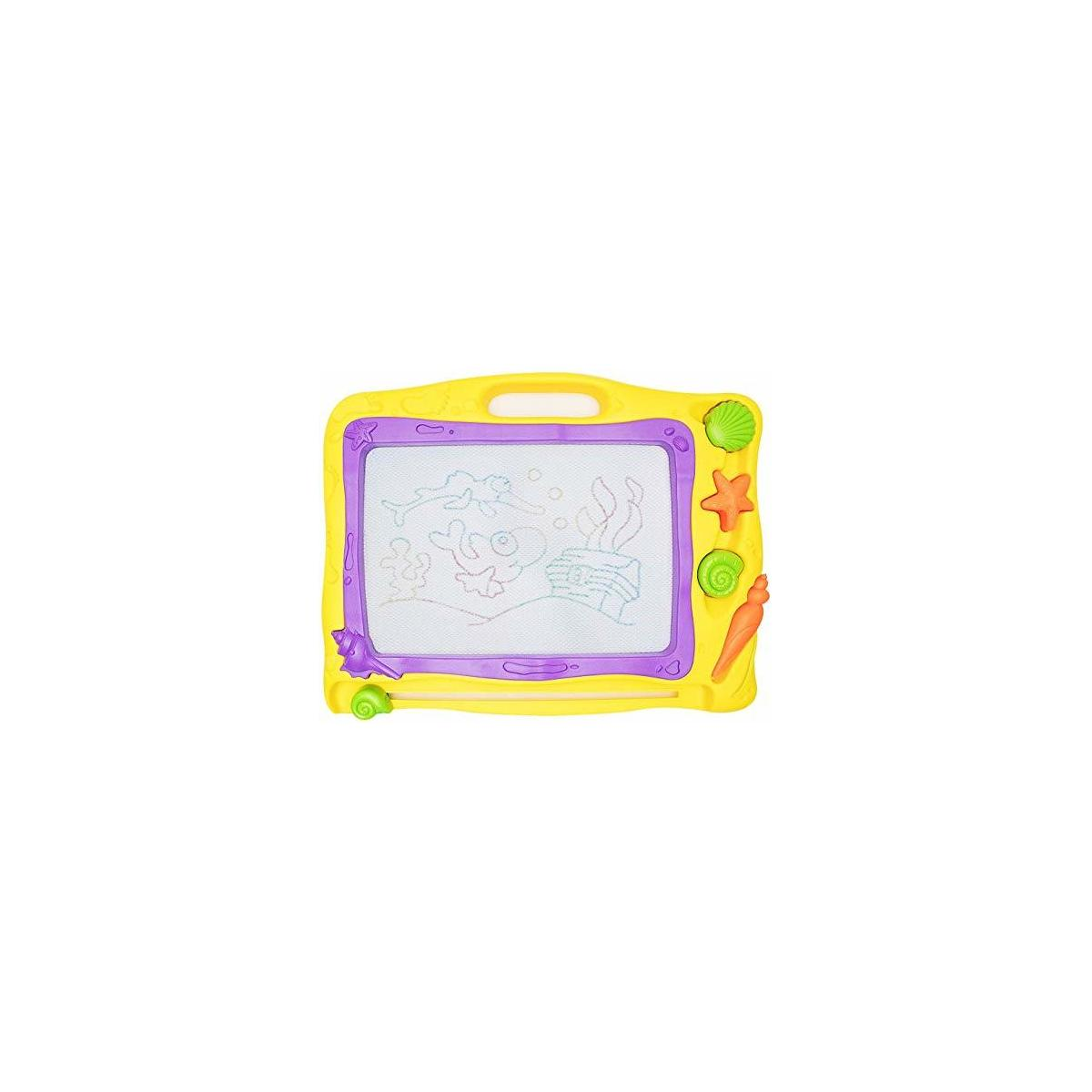 Happytime Kids Colorful Magnetic Drawing Board Large Colorful Erasable Drawing Doodle Writing Sketching Magnetic Board Toys for Kids