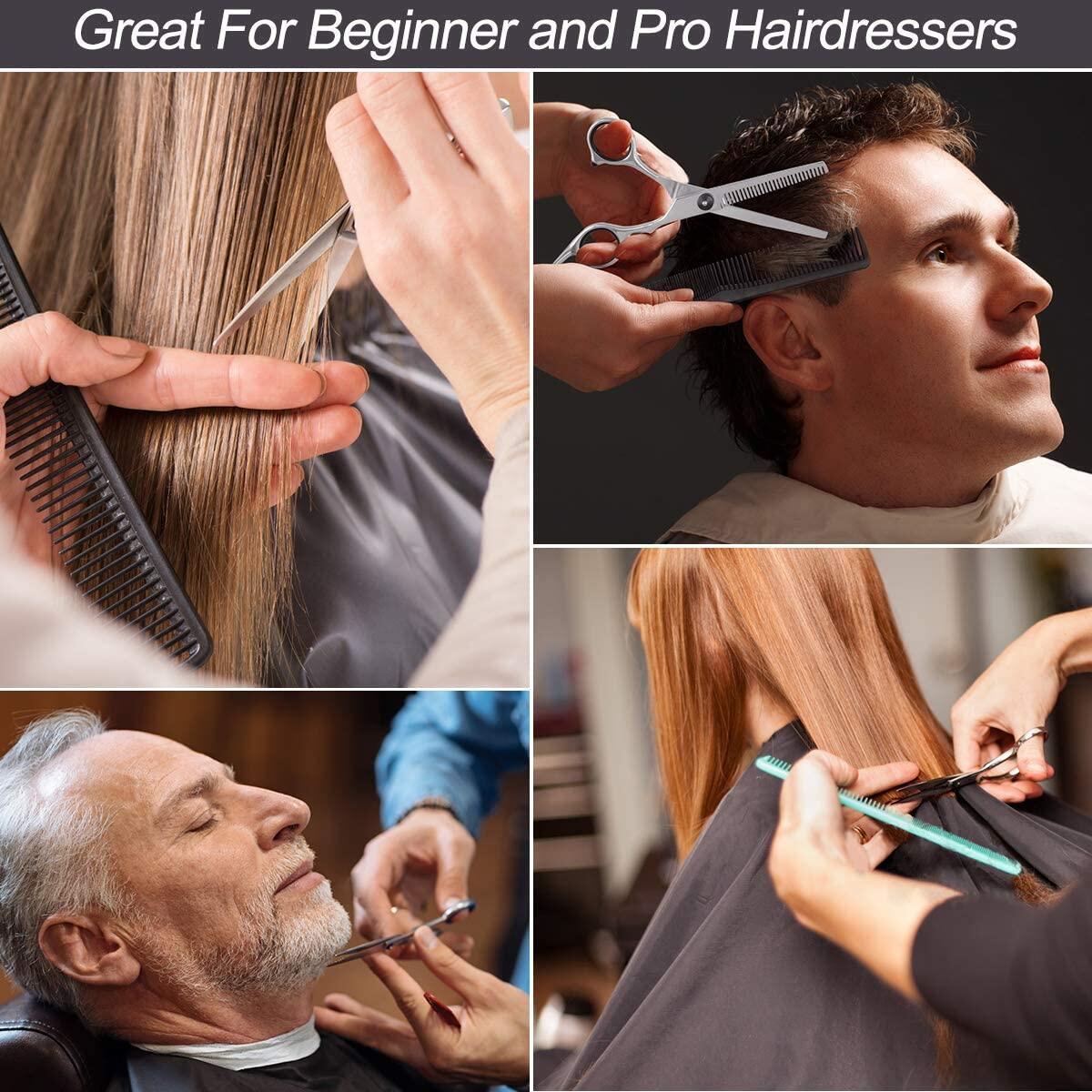 Professional Hair Cutting Scissors Set 11 PCS Hair Cutting Scissors Thinning Shears Multi-Use Haircut Kit Scissors Hair Cutting Shears Set For Barber Salon Home Hair Cutting Scissors