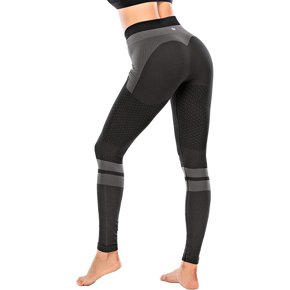 RUNNING GIRL Contrast High Waist Leggings for Women,Butt Lifting Tummy Control Compression Workout Yoga Pants