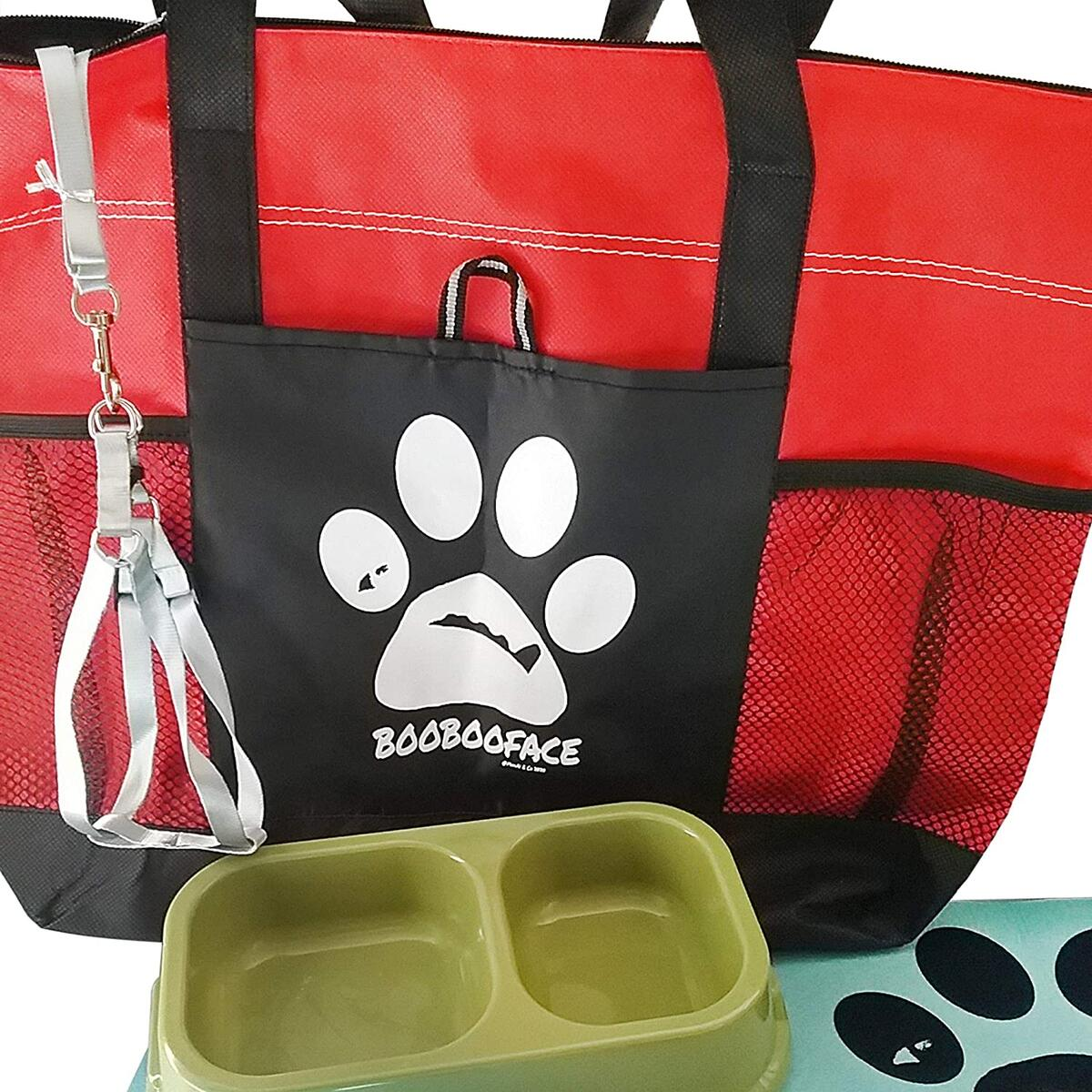 'BooBooFace' Dog Lovers Recommended Starter Bundle for New Puppy Owners Harness Food Mat Carry Bag for Small Dogs
