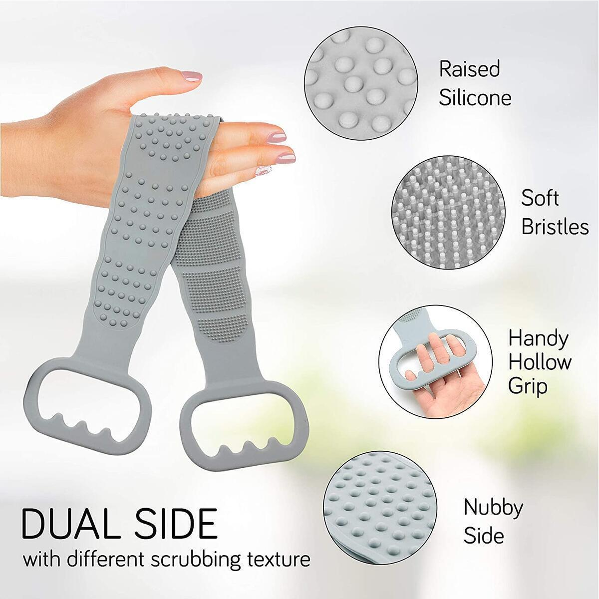 Silicone Body Back Scrubber Exfoliating Texture for shower and Bath Body Brush.…
