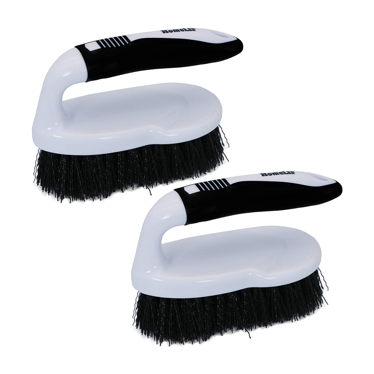 Scrub Brush Comfort Grip, Flexible, Heavy Duty, Hard Stiff Bristles, Cleaning Brush for Bathroom, Shower, Sink, Floor, Surfaces Tub, Tile and Grout All Purpose