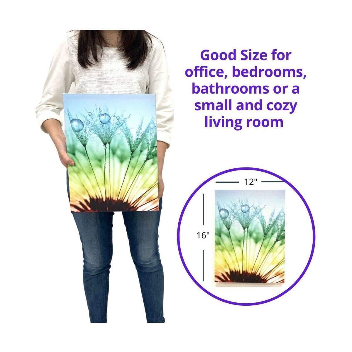Canvas Wall Art - Bathroom Wall Art, Beautiful Dandelion Art Work Framed Wall Art, Wall Decor for Home, Bedroom, Kitchen, Office, Hallway Decor, Flower Canvas Wall Art, Cuadros Para Cocina Y Comedor