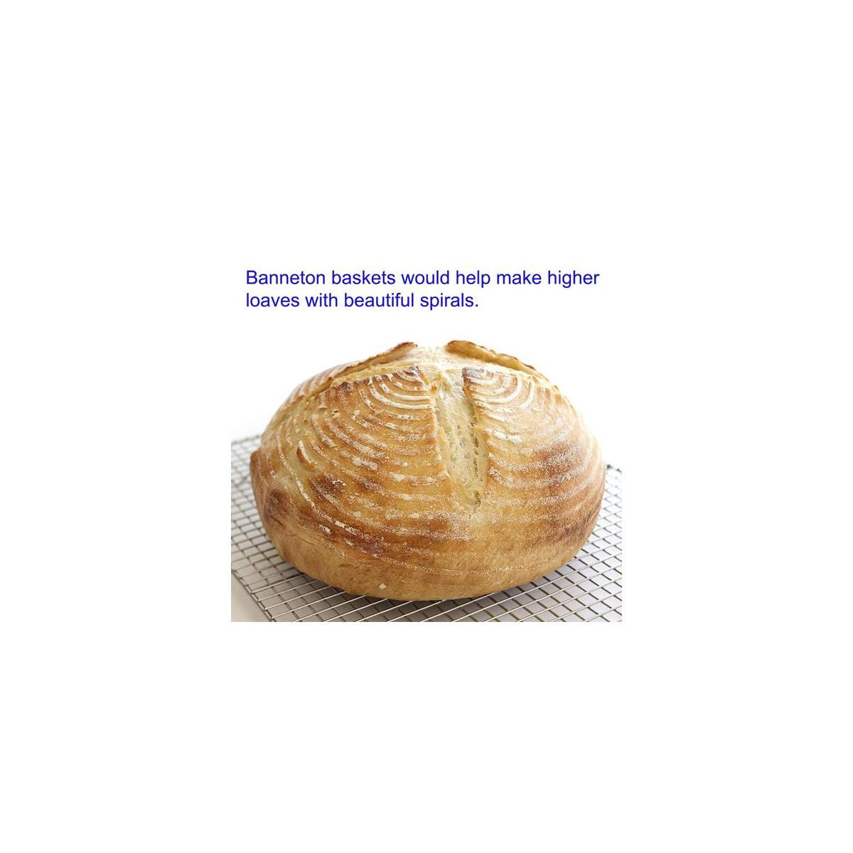 Sourdough Proofing Bowl for Homemade Dough Bread Durability Smooth Proofing Baskets 9 Inch Round Proofing Baskets Handmade Banneton Proofing Baskets Round Zero Splintering Proofing Baskets